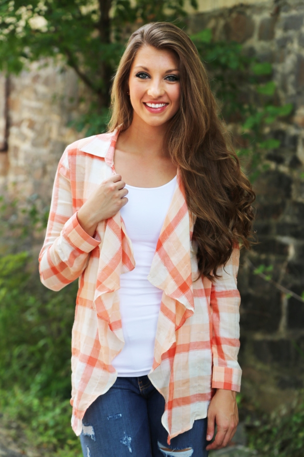 Picnic Fields Plaid Cardi