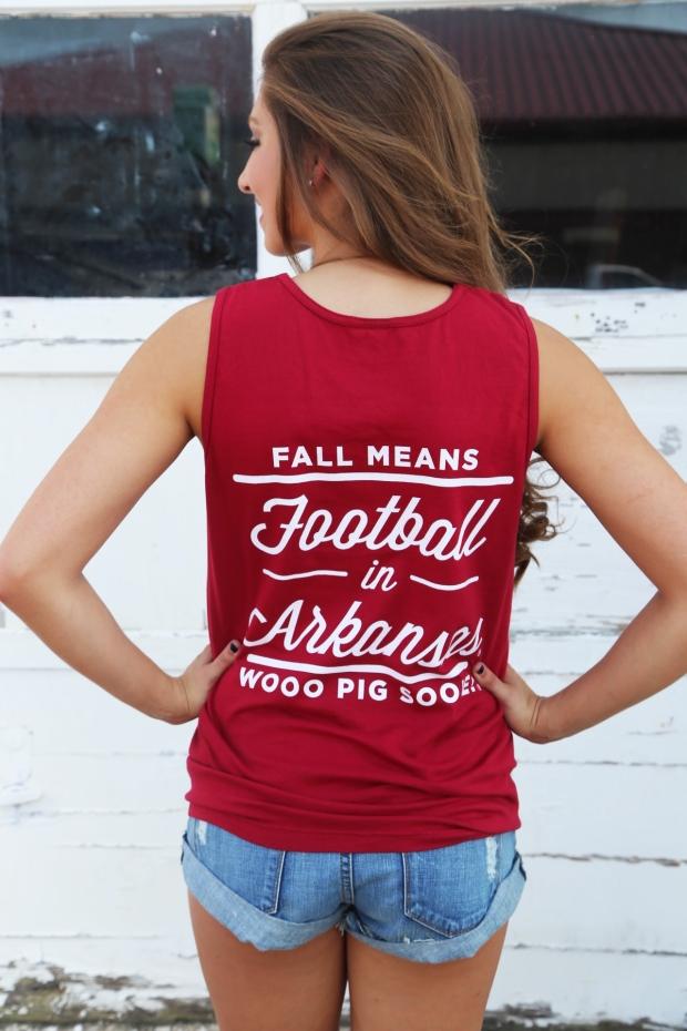Football In Arkansas Tank {Red}3