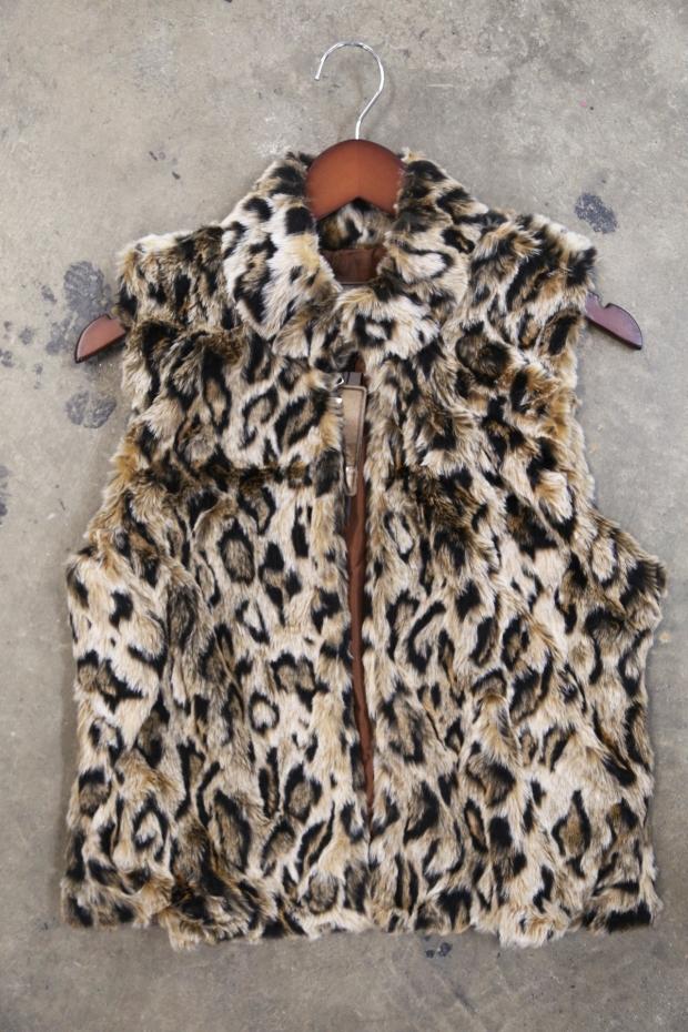 Leopard Deluxe Fur Vest